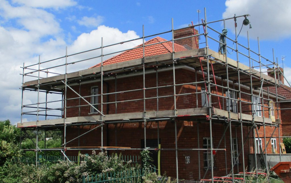 scaffold scaffolding roof repairs